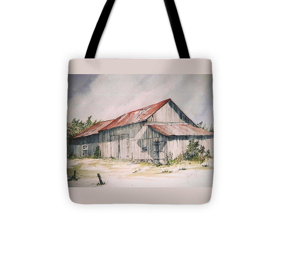 Farm Tote Bag featuring the painting Il Etait Un Fois by Jackie Mueller-Jones