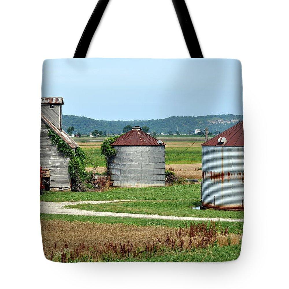 Farm Tote Bag featuring the photograph Ilini Farm by Marty Koch
