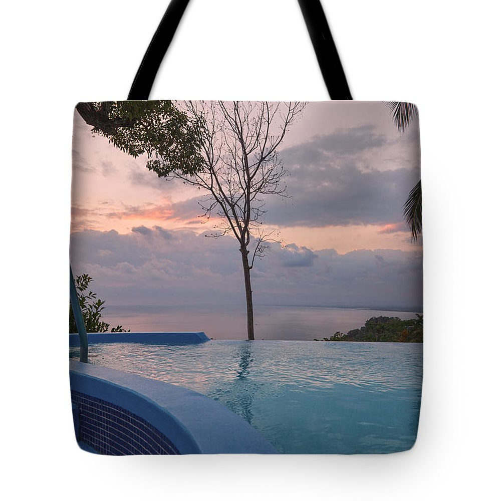 Costa Tote Bag featuring the photograph I'll Wait Till The Sun Goes Down by Betsy Knapp
