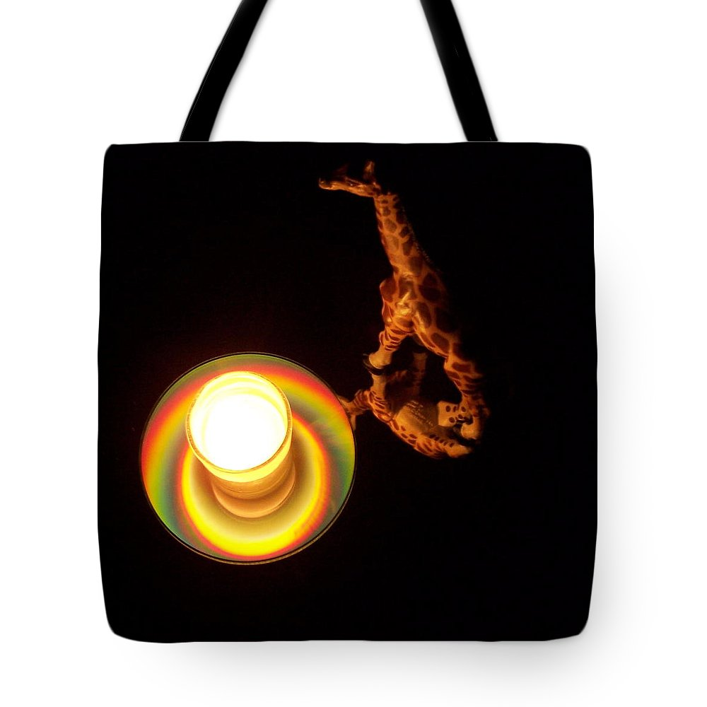Giraffe Tote Bag featuring the photograph Illuminated Objects by Michelle Miron-Rebbe