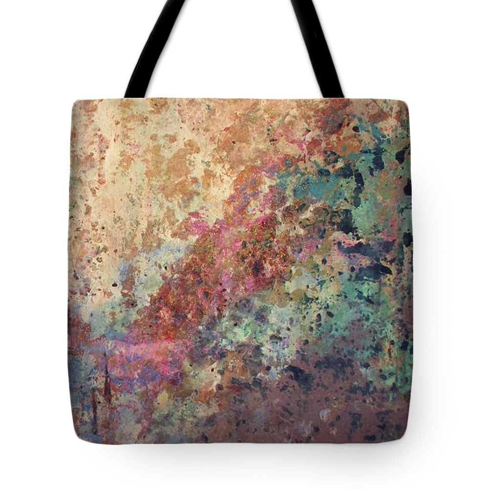 Mica Tote Bag featuring the painting Illuminated Valley II Diptych by Shadia Derbyshire