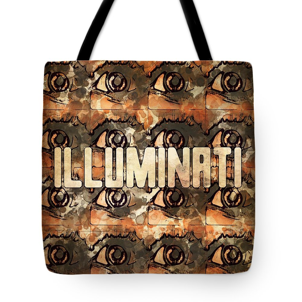Illuminati Tote Bag featuring the digital art Illuminati Eyes By Mb And Rt by Raphael Terra