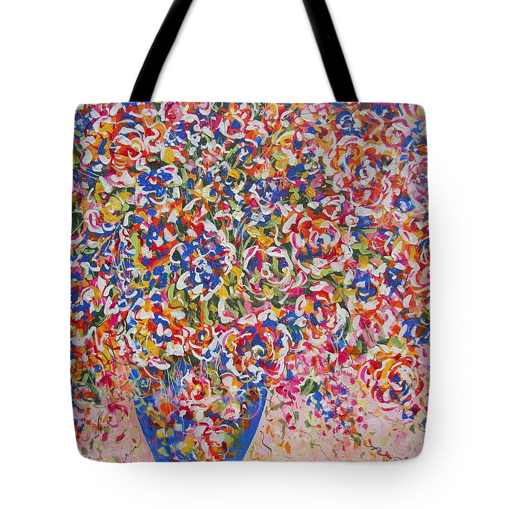 Flowers Tote Bag featuring the painting Illumination by Natalie Holland