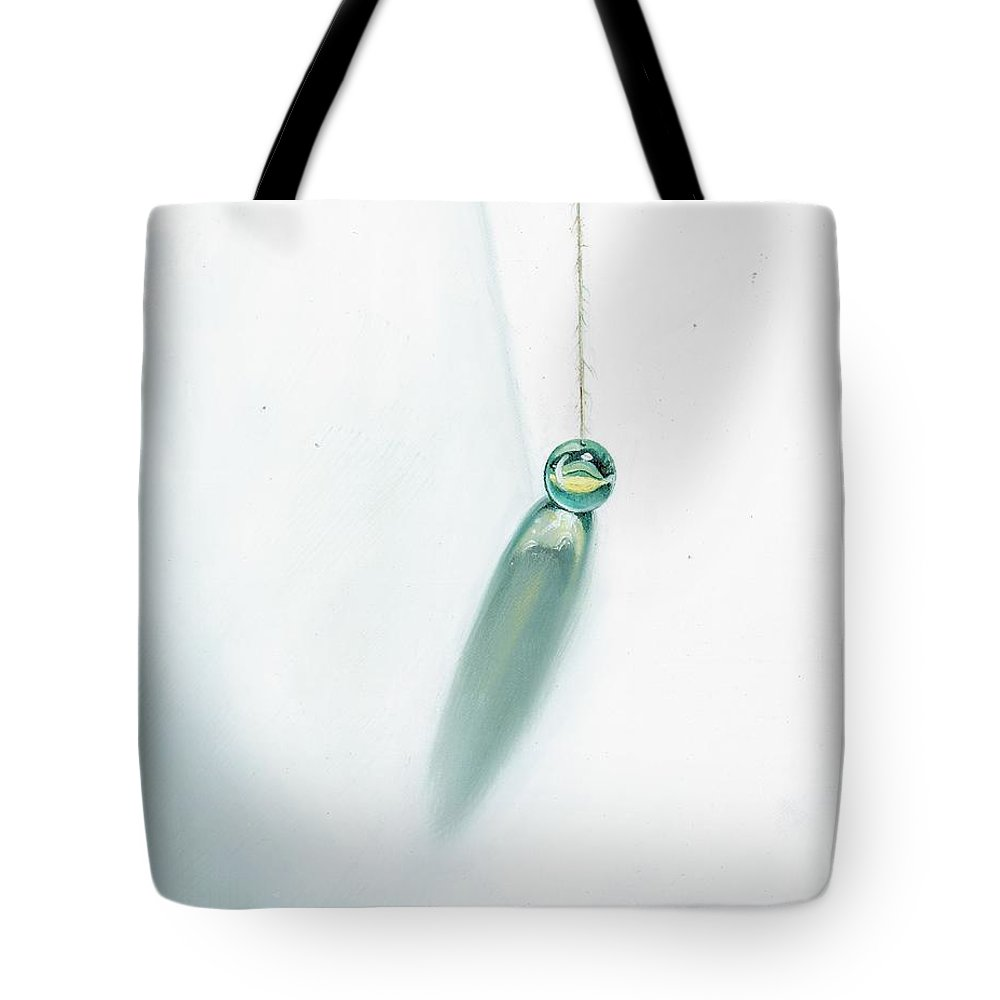 Marble Hanging By String Tote Bag featuring the painting Illumination Within by Roger Calle