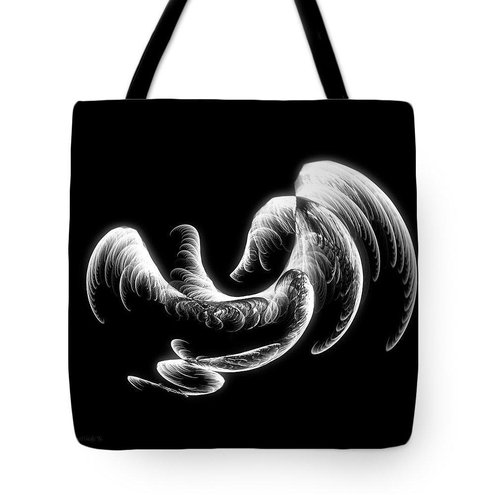 Digital_art Tote Bag featuring the digital art Illusion by Gerlinde Keating - Galleria GK Keating Associates Inc