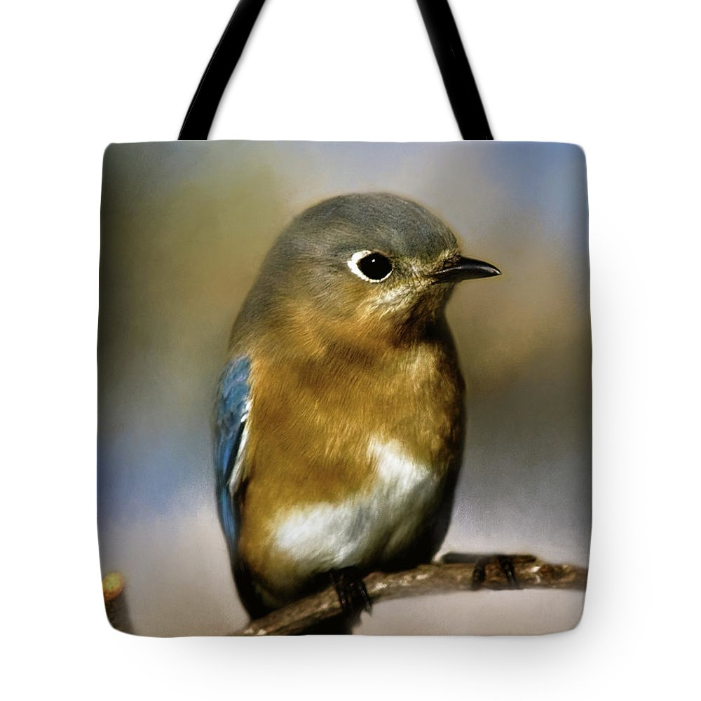 Animal Tote Bag featuring the photograph I'm A Bluebird by Lana Trussell