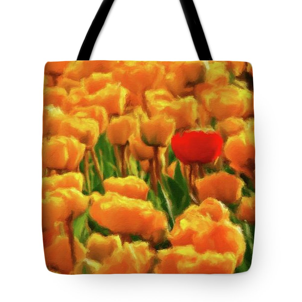 Landscape Tote Bag featuring the painting I'm Different by Sarah Kirk