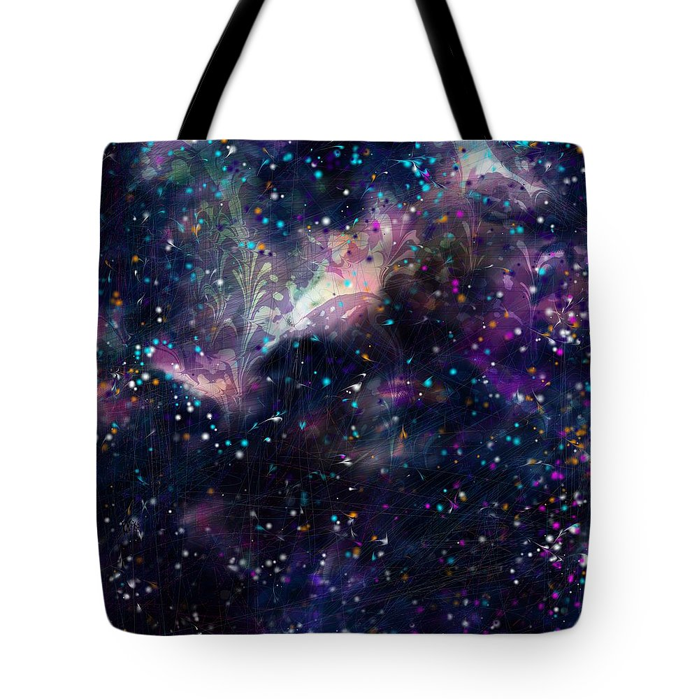 Abstract Tote Bag featuring the digital art I'm In Heaven by Rachel Christine Nowicki