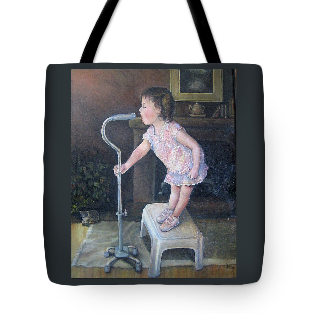 Child Tote Bag featuring the painting I'm Singin In The Cane by Donna Tucker