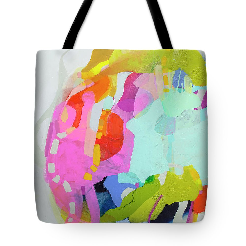 Abstract Tote Bag featuring the painting I'm So Glad by Claire Desjardins