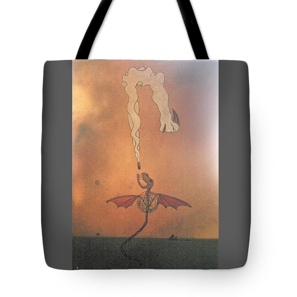 Drugs Tote Bag featuring the painting I'm There by Darby Walker