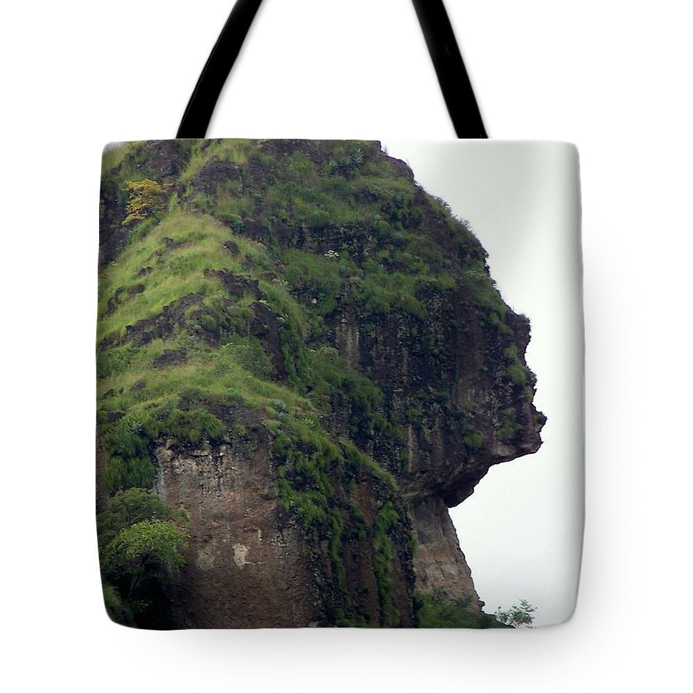 Face Tote Bag featuring the photograph Image Of A Woman by Karen Wiles