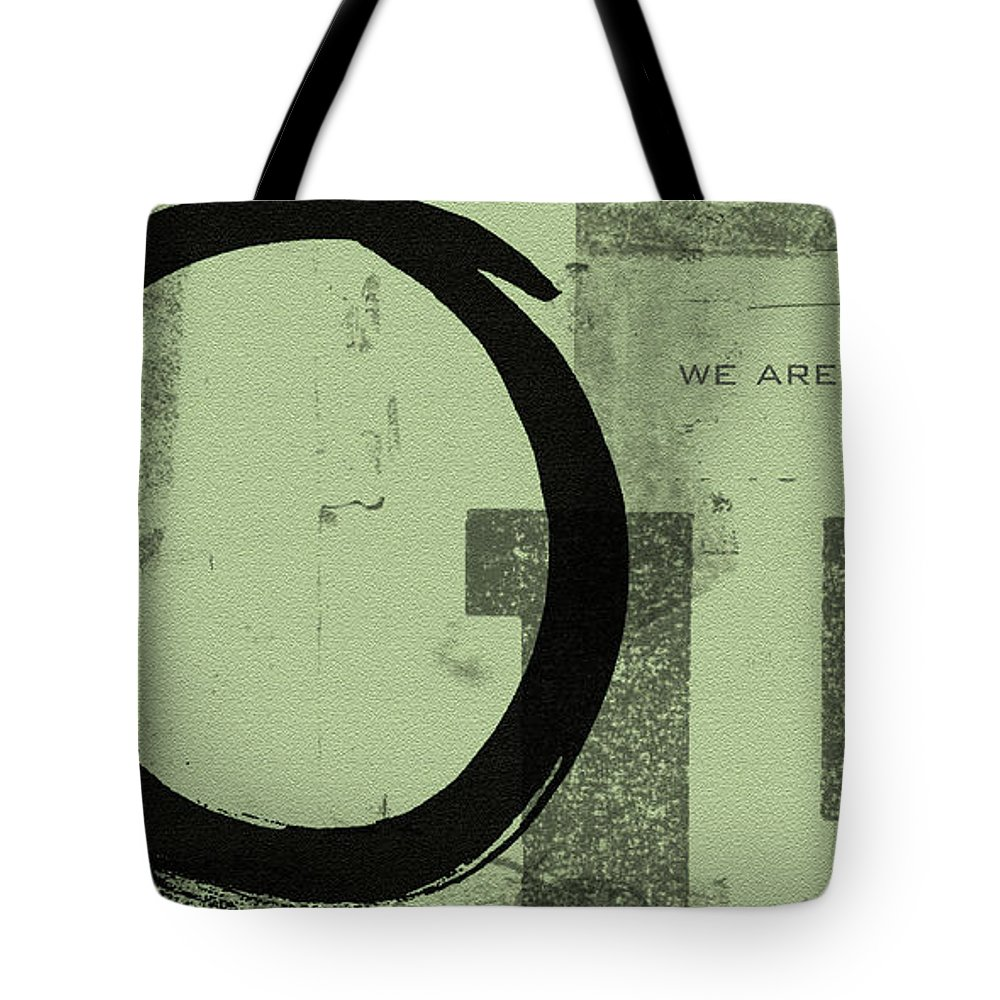 Green Tote Bag featuring the painting Image Of Peace by Julie Niemela