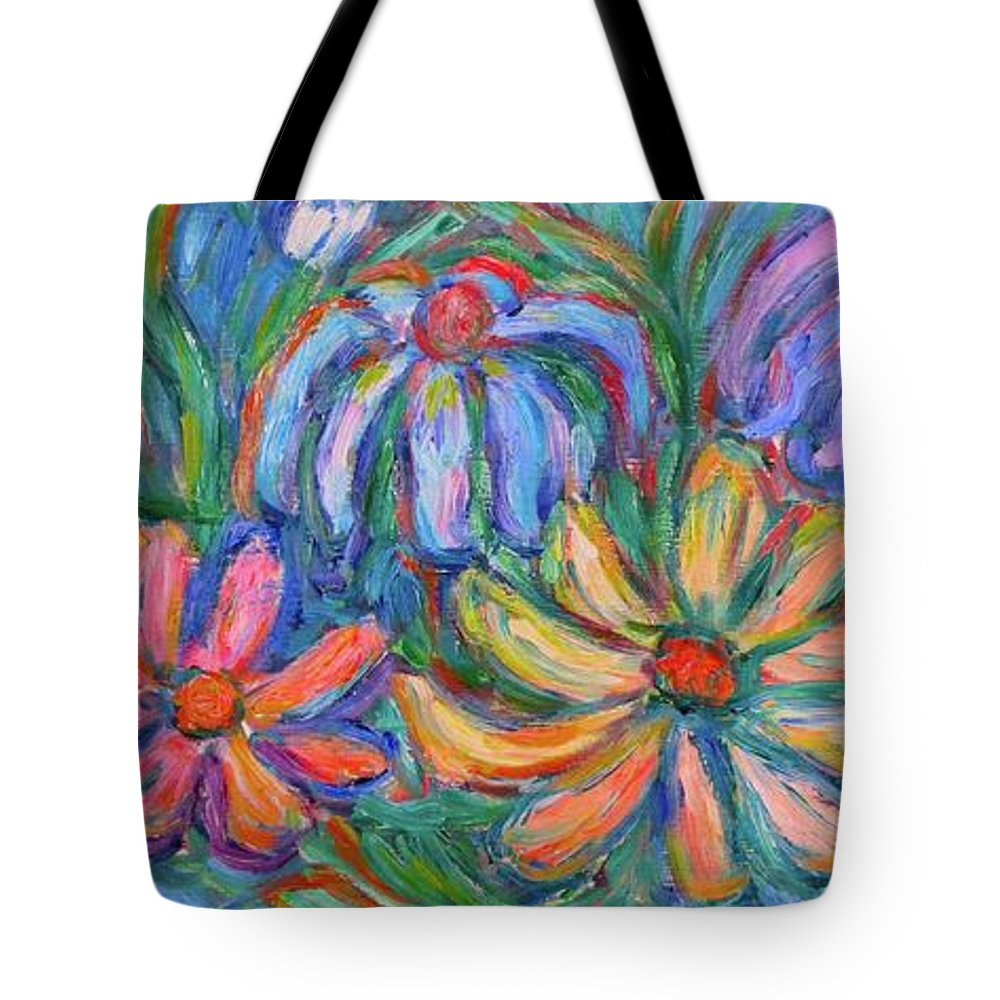 Flowers Tote Bag featuring the painting Imaginary Flowers by Kendall Kessler