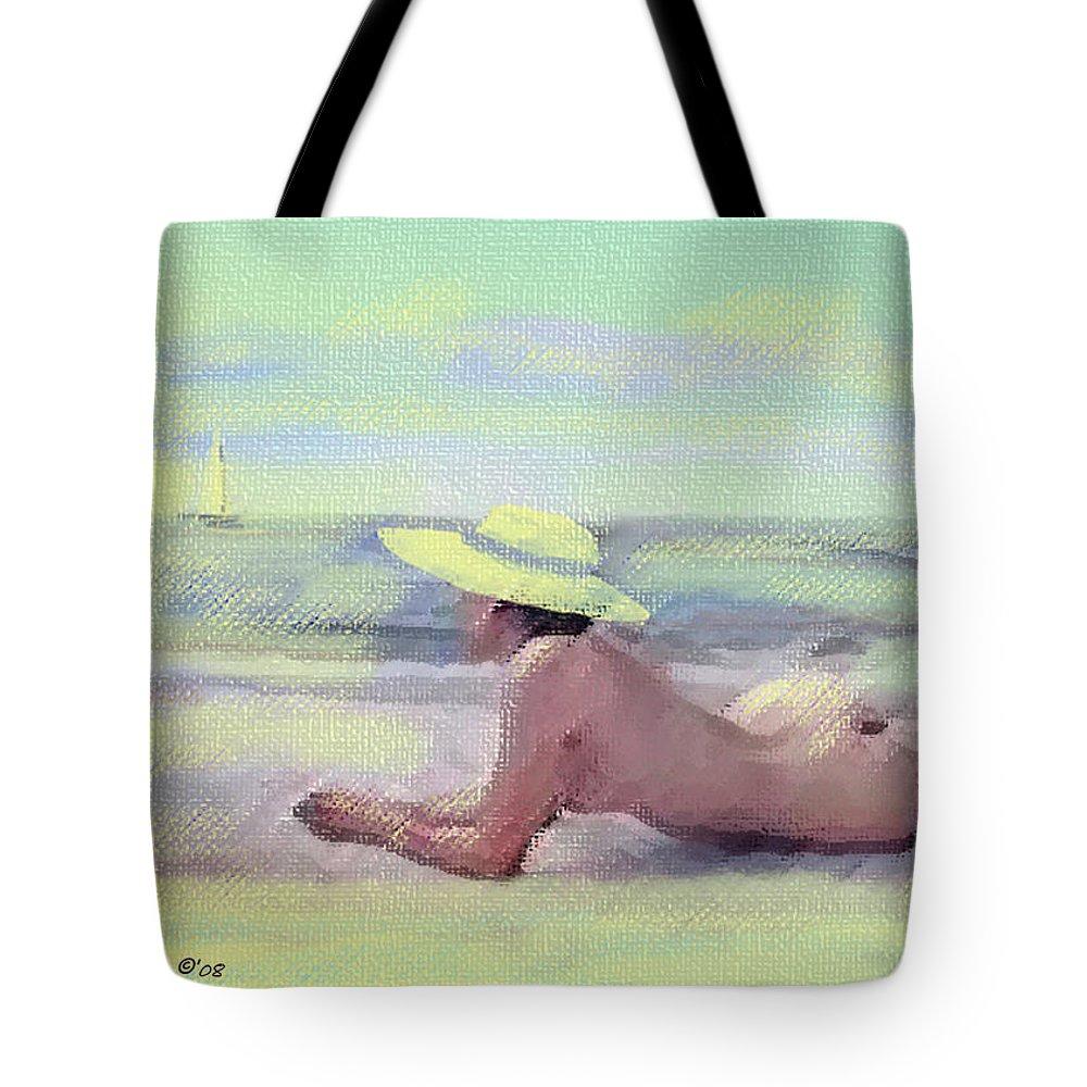 Original Art Tote Bag featuring the pastel Imagine by Gina De Gorna