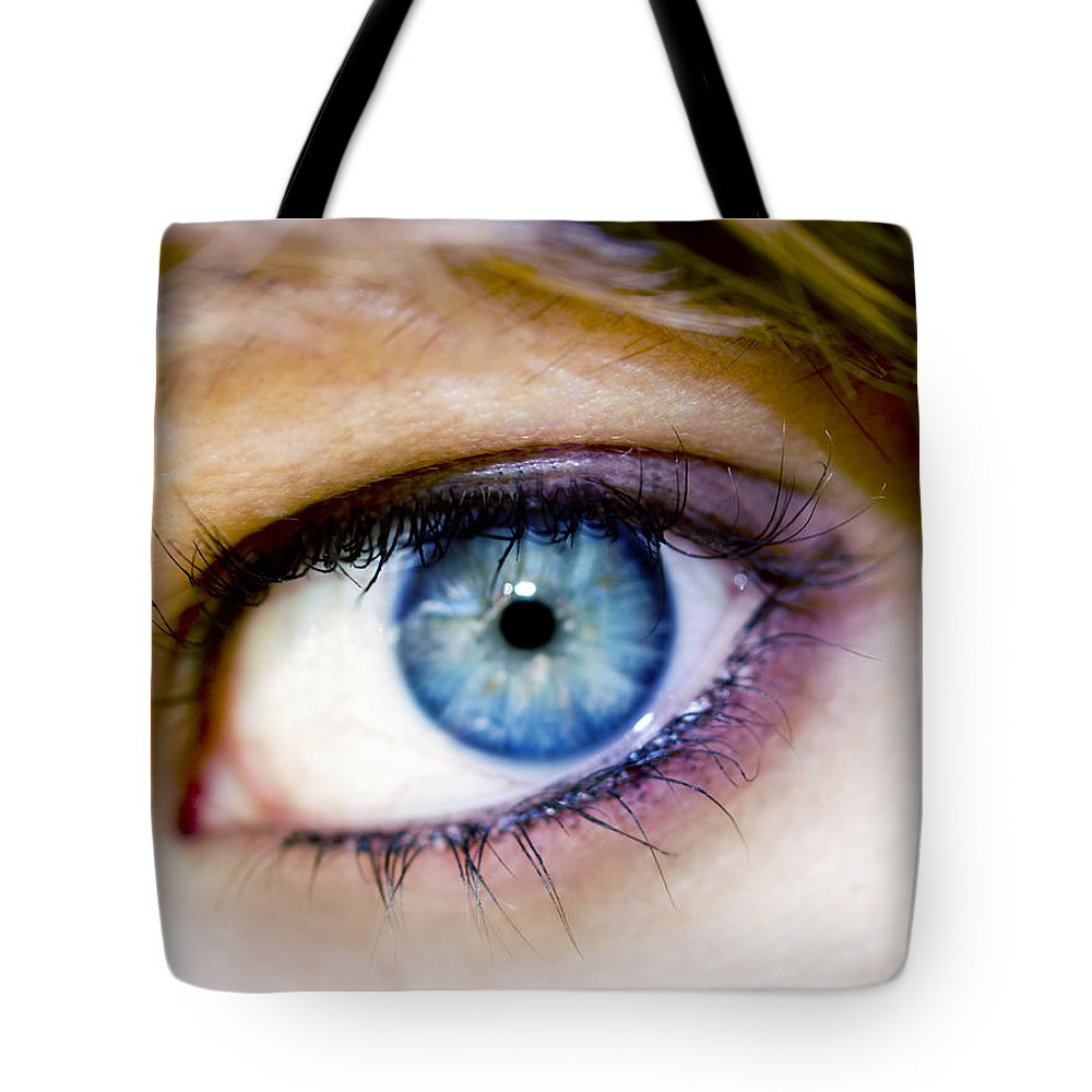Eye Tote Bag featuring the photograph Imagine by Kelly Jade King