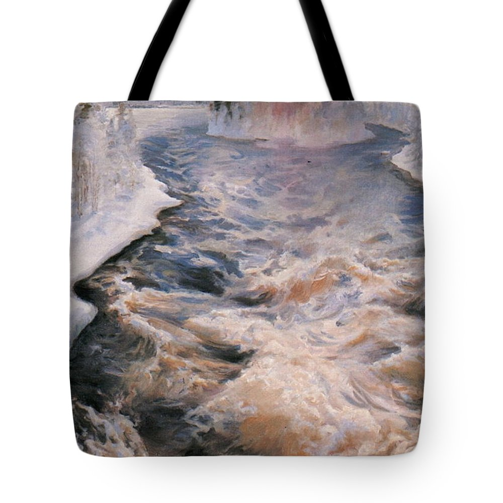 Akseli Gallen-kallela Tote Bag featuring the painting Imatra by Celestial Images