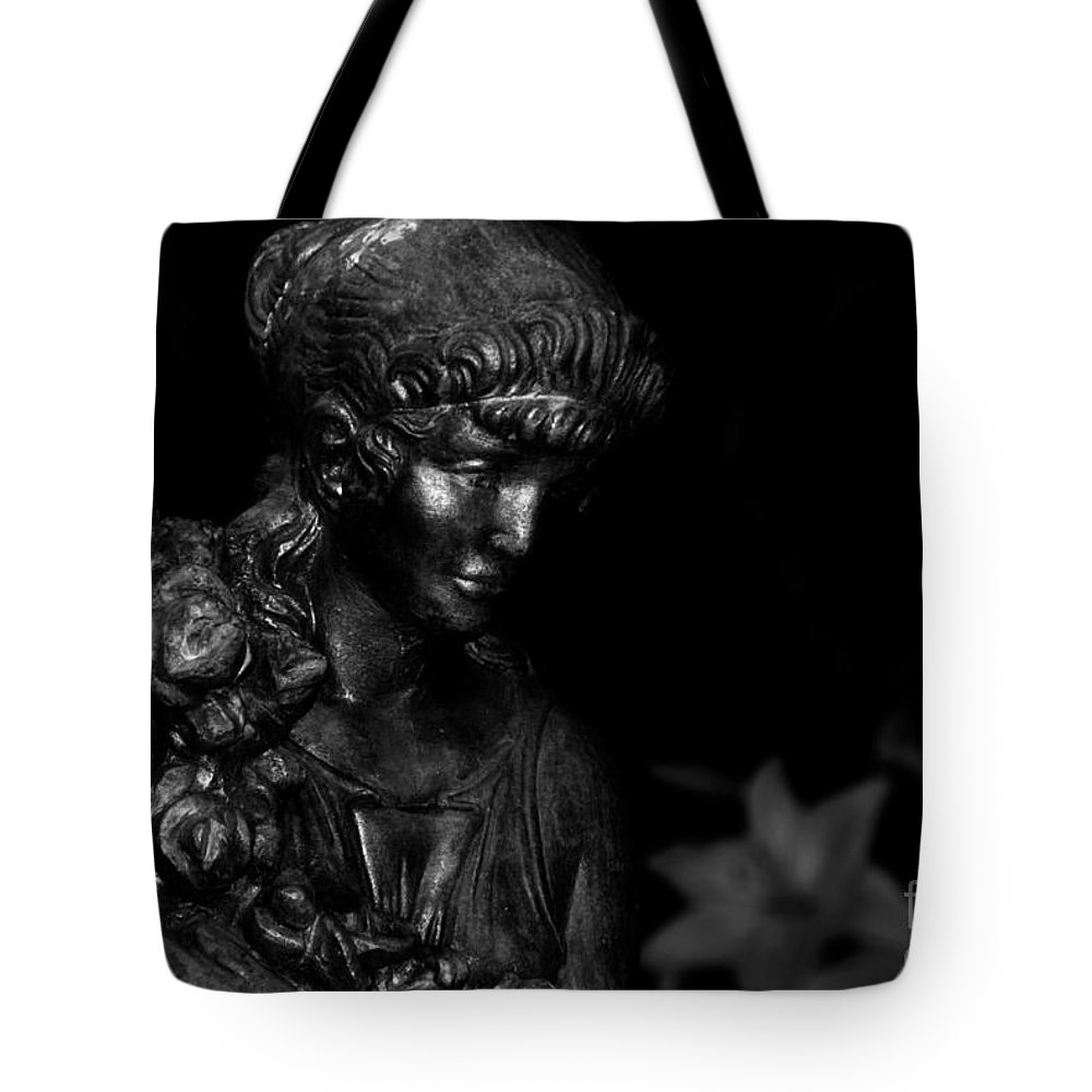 Photography Tote Bag featuring the photograph Immortal Maiden by Venetta Archer