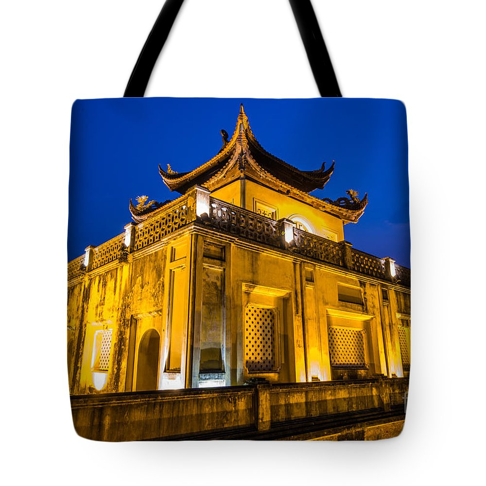 Long Tote Bag featuring the photograph Imperial Citadel Of Hanoi by Dong Bui