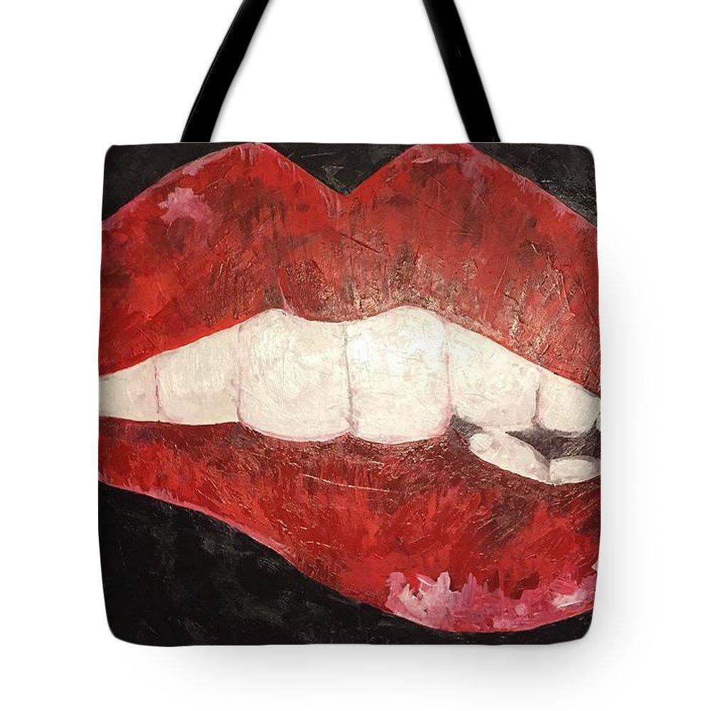 impression bite tote bag for sale by sarah jane thompson. Black Bedroom Furniture Sets. Home Design Ideas