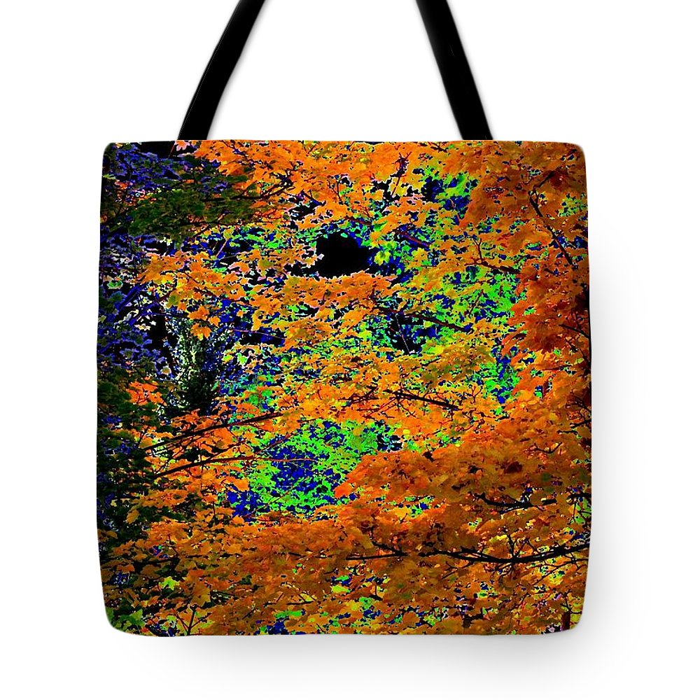 Impressions Tote Bag featuring the digital art Impressions 3 by Will Borden