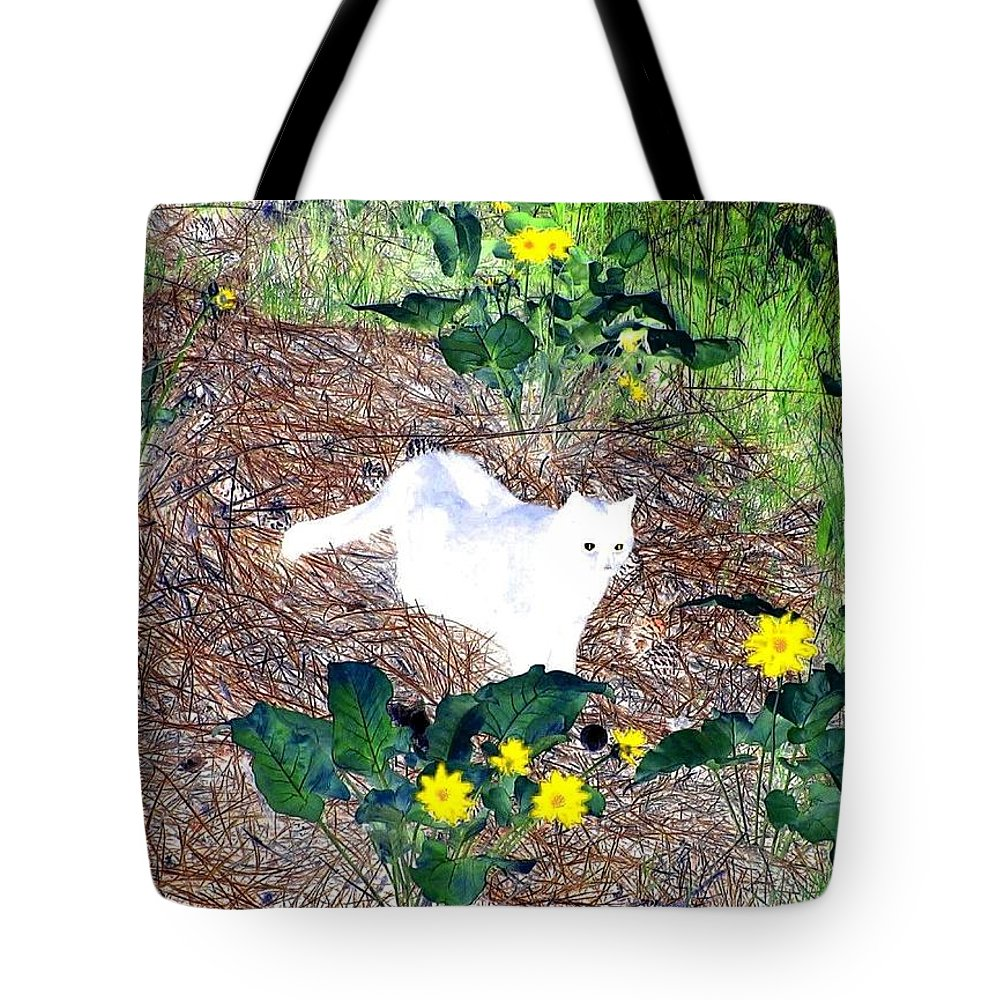 Impressions Tote Bag featuring the digital art Impressions 4 by Will Borden