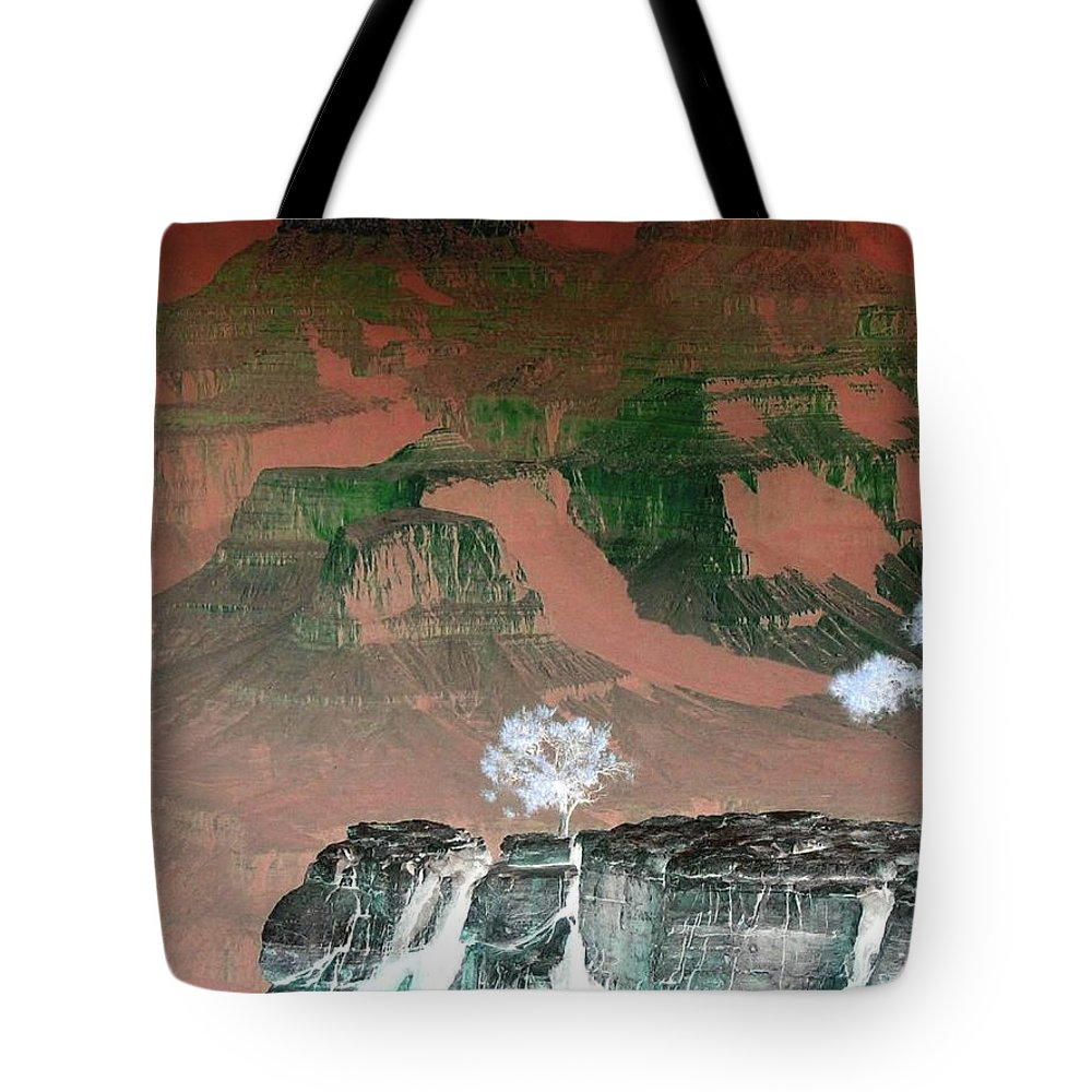 Impressions Tote Bag featuring the digital art Impressions 8 by Will Borden