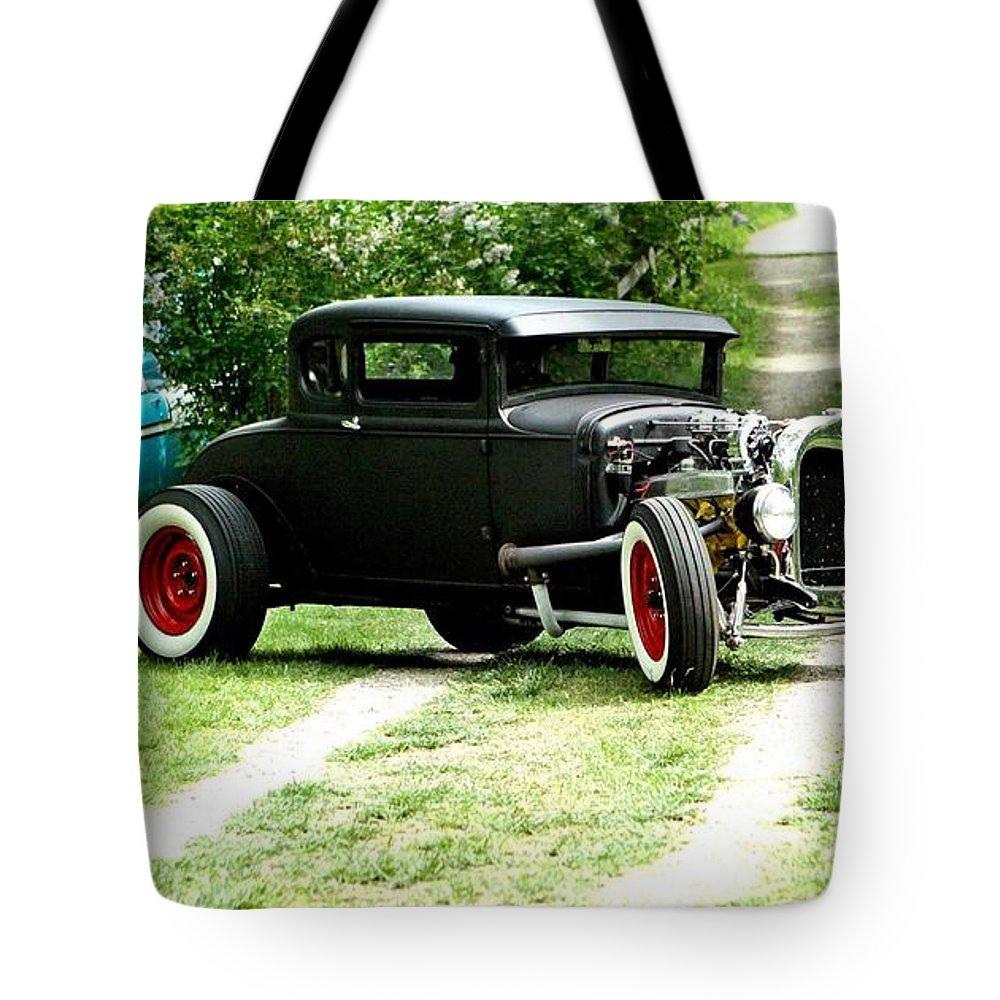 Black Impressive Mood Car Auto Automobile Classic Vintage Collect Collection Life Tote Bag featuring the photograph Impressive. by Stevie Ellis
