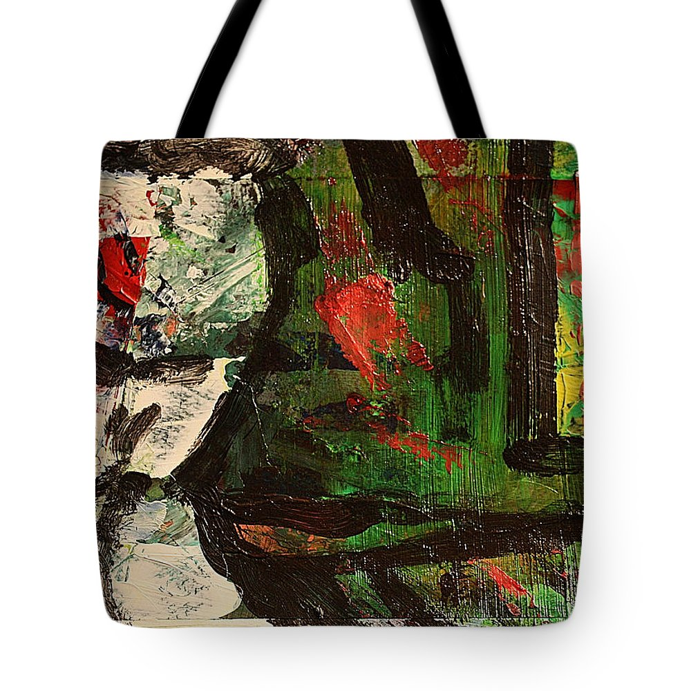 Art Tote Bag featuring the painting Impro2 by Uwe Hoche
