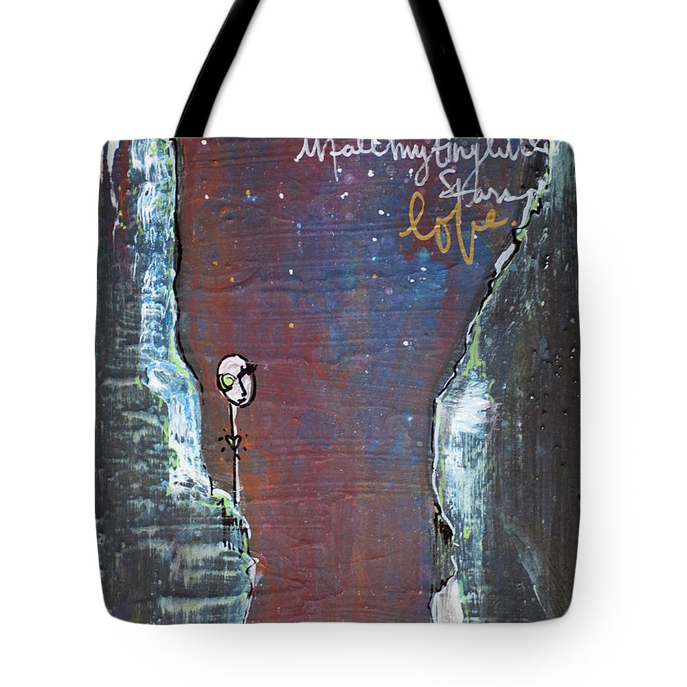 Cliffs Tote Bag featuring the painting In All My Tiny Little Stars by Laurie Maves ART