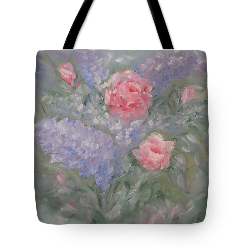 Flowers Tote Bag featuring the painting In Bloom by Carrie Mayotte