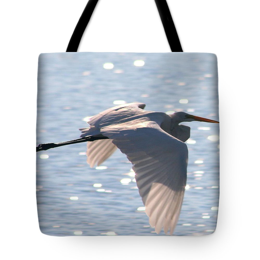 In Flight 2 Tote Bag featuring the photograph In Flight 2 by Delphine Ross