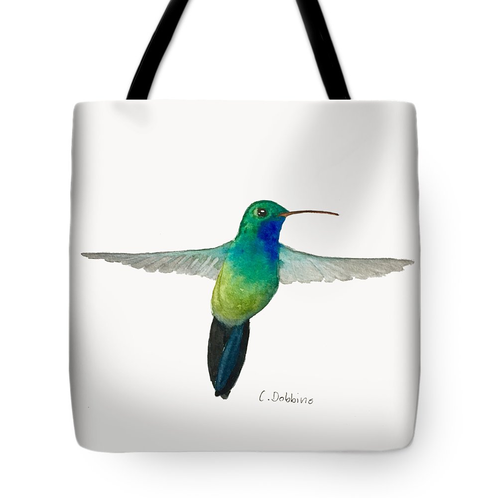 Bird Art Tote Bag featuring the painting In Flight by Christiane Dobbins