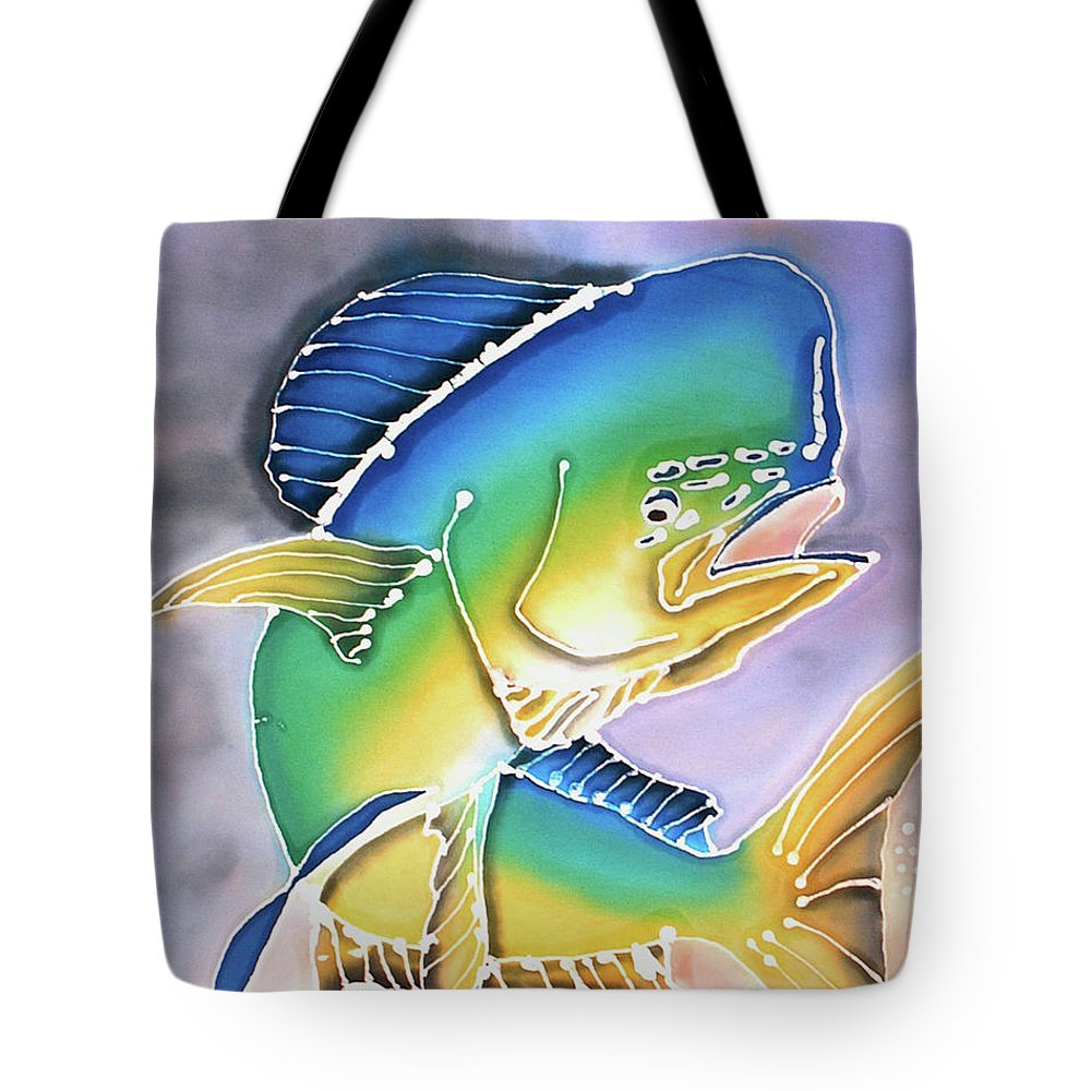 Bahamas Art Tote Bag featuring the painting In Flight by Tiff
