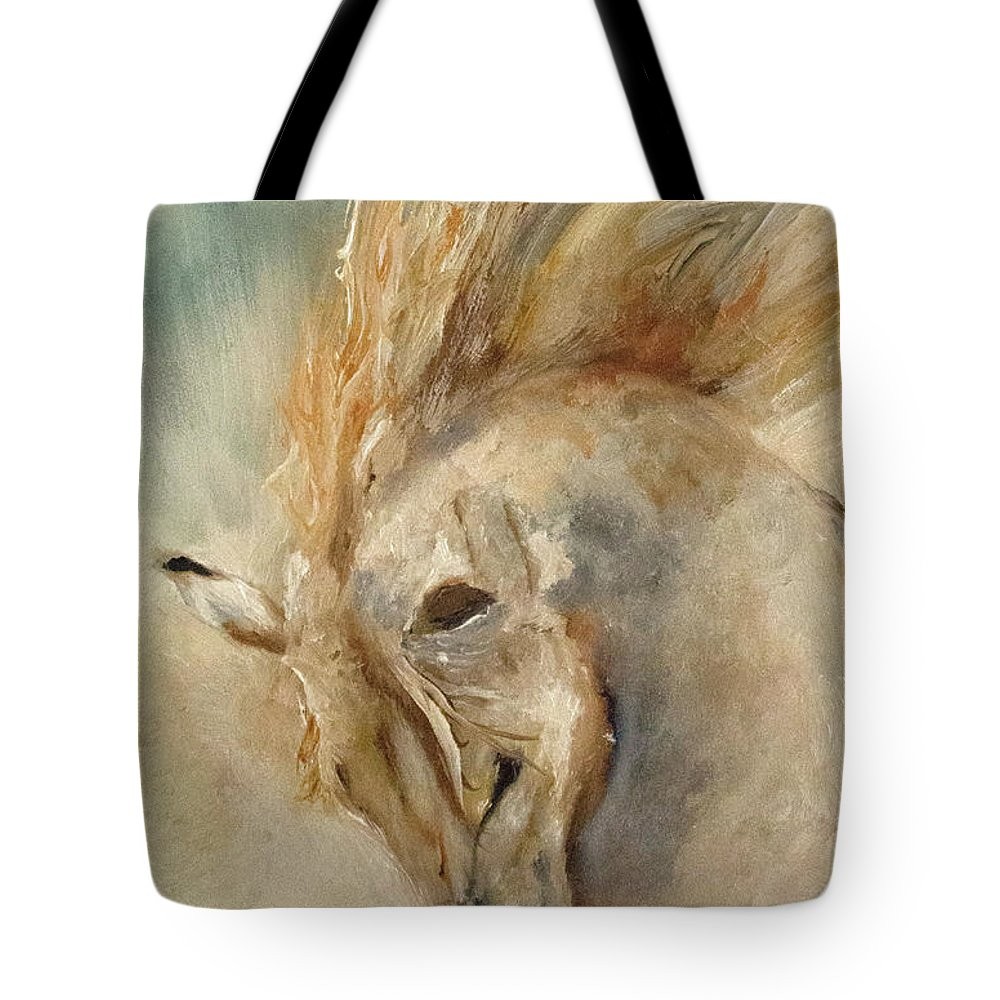 Give Thanks Tote Bag featuring the painting In Humble Praise by Barbie Batson