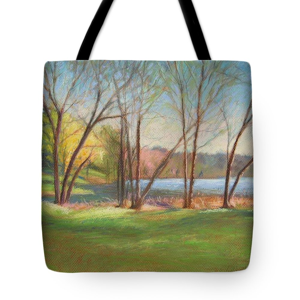 Mcgrath Tote Bag featuring the painting In Just Spring At Plug by Leslie Alfred McGrath
