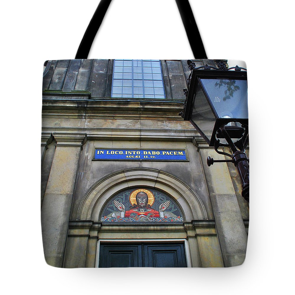 Church Tote Bag featuring the photograph In Loco Isto Dabo Pacem by Jost Houk