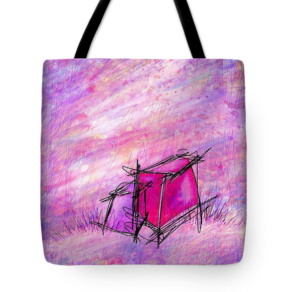 Abstract Tote Bag featuring the digital art In Love by Rachel Christine Nowicki