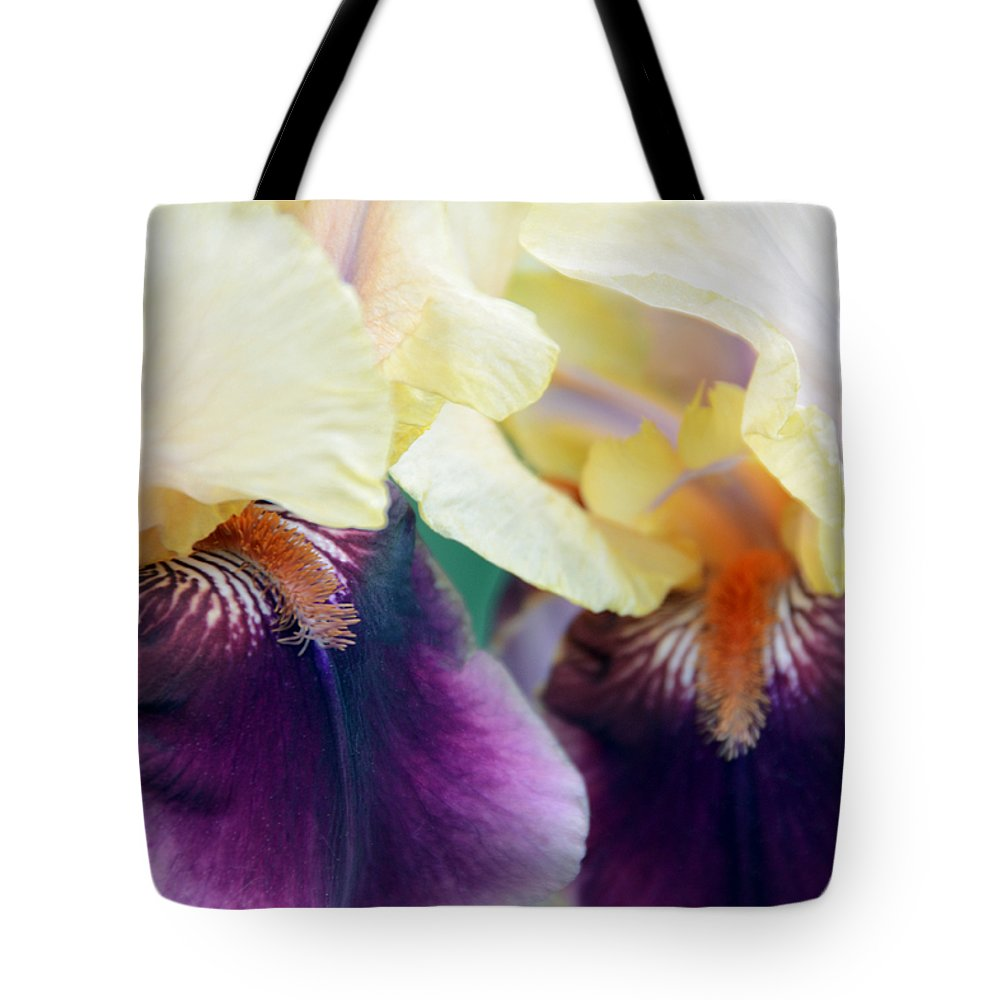 Iris Tote Bag featuring the photograph In Love With Iris by Angelina Tamez