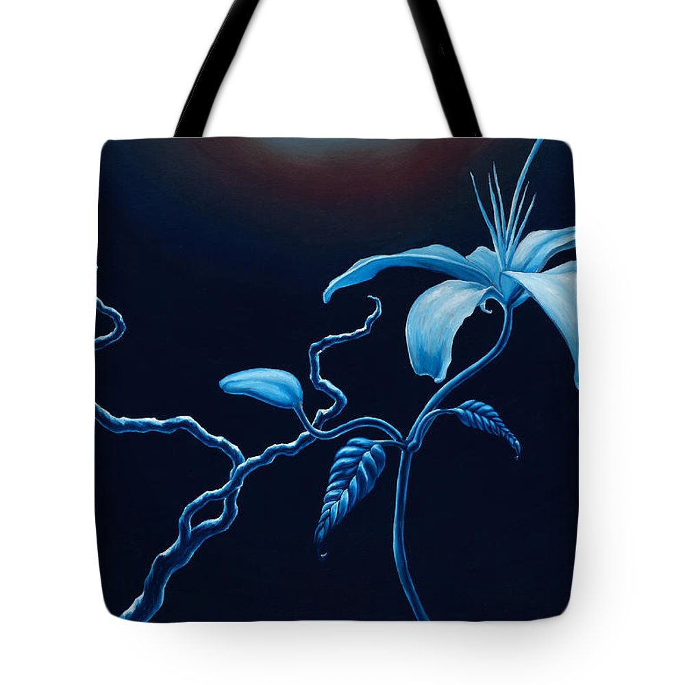 Lily Flower Tote Bag featuring the painting In Memorial by Jennifer McDuffie