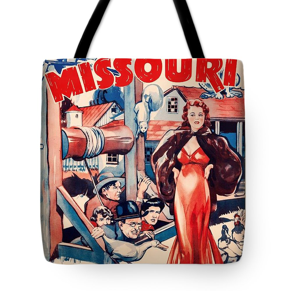 Movie Tote Bag featuring the mixed media In Old Missouri 1940 by Mountain Dreams