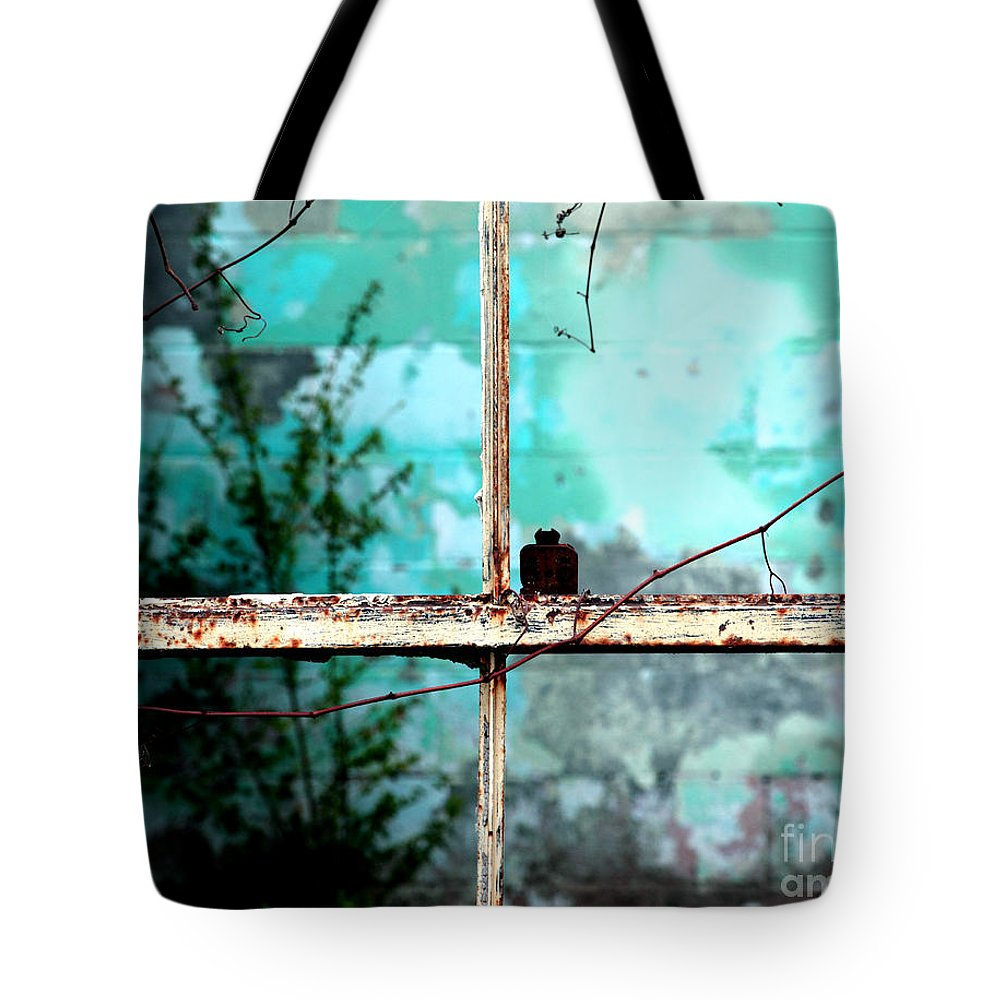 Windows Tote Bag featuring the photograph In Or Out by Amanda Barcon