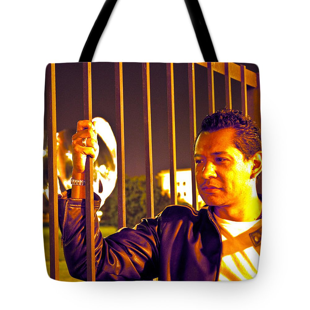 Tote Bag featuring the photograph In Or Out by Francisco Colon