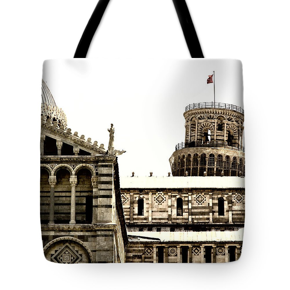 Pisa Tote Bag featuring the photograph In Pisa by Mick Burkey