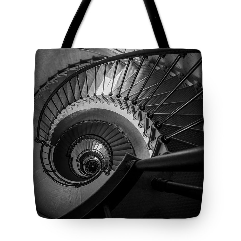 Black And White Tote Bag featuring the photograph In Ponce by Kristopher Schoenleber