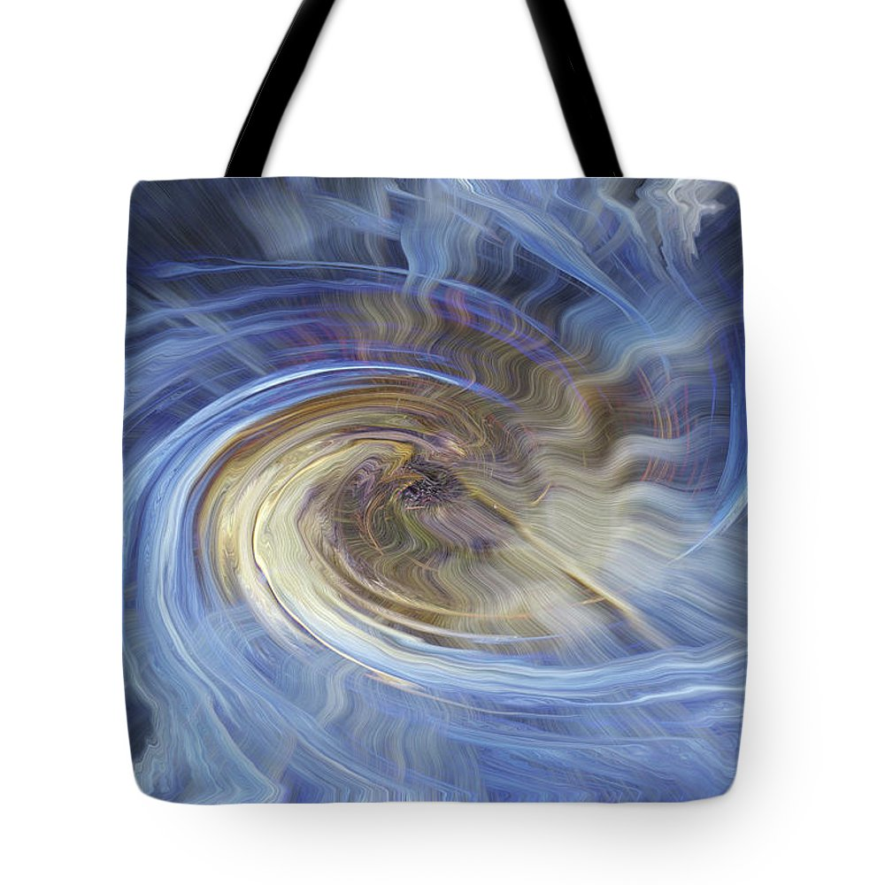 Shell Ice Tote Bag featuring the digital art In The Beginning by Bill Morgenstern