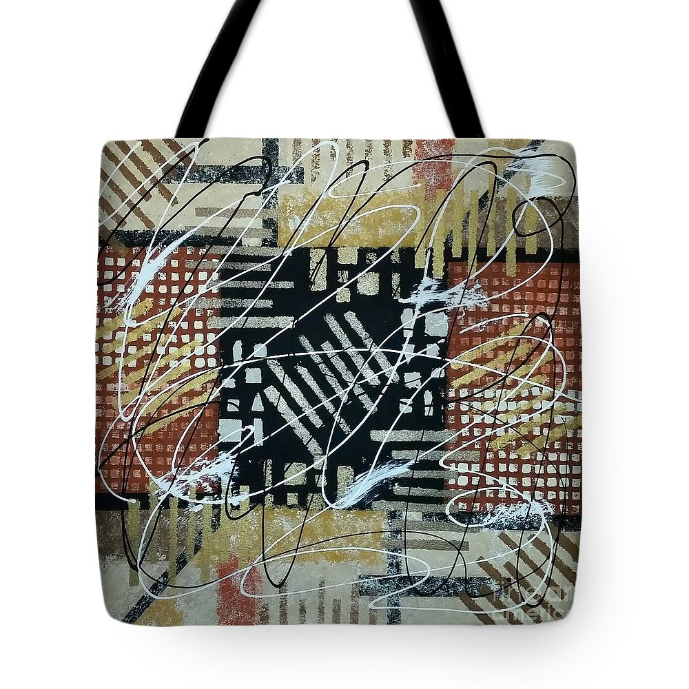 Abstract Tote Bag featuring the painting In The Depth Of My Mind by Stephanie Carriere