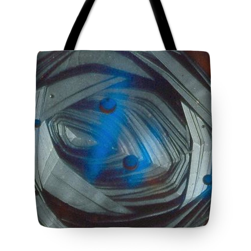 Abstract Tote Bag featuring the painting In The Eye Of The Tunnel by Rick Silas