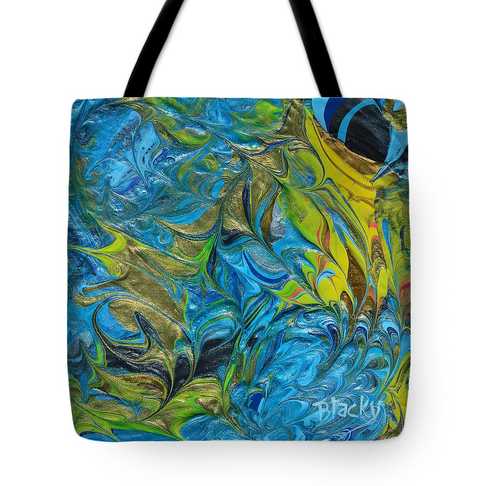Modern Tote Bag featuring the painting In The Face Of Adversity by Donna Blackhall