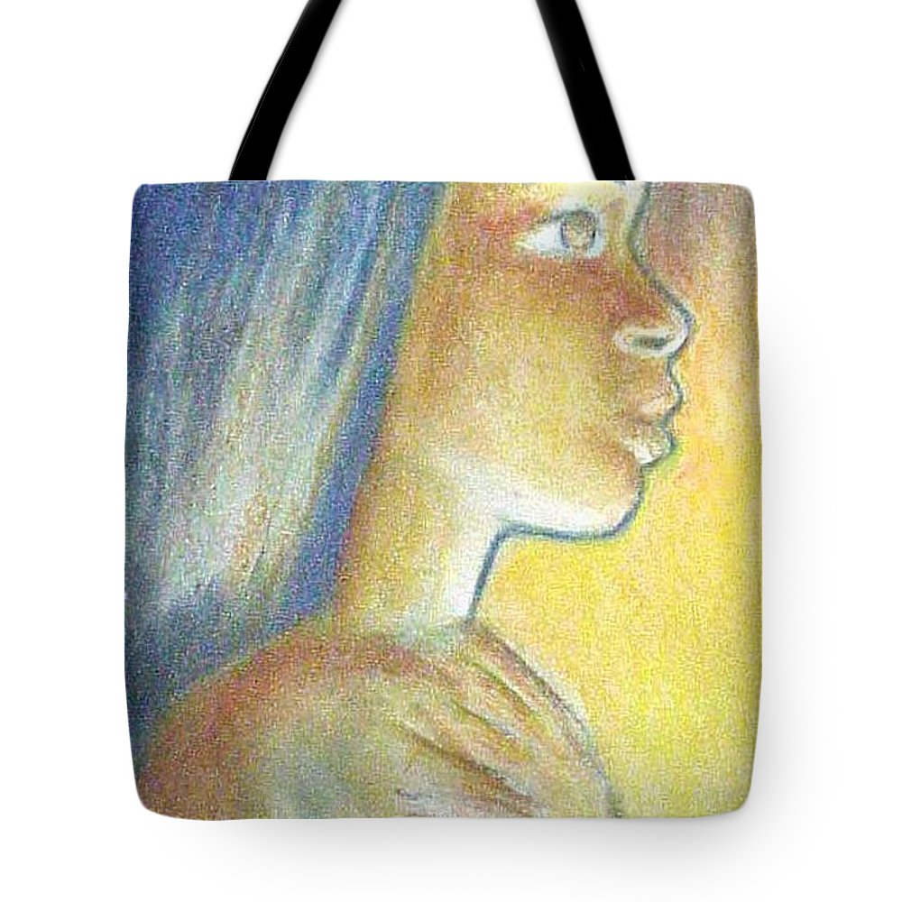 Tote Bag featuring the drawing In The Glow by Jan Gilmore